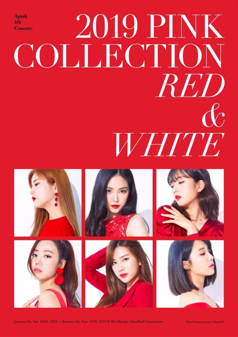 5일(토), 에이핑크 Apink 5th CONCERT [2019PINKCOLLECTION:RED&WHITE] | 인스티즈