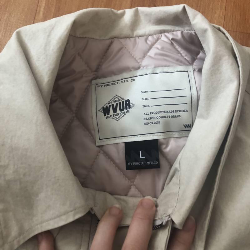 wv프로젝트 카누 코튼자켓 베이지 팔아용 | 인스티즈