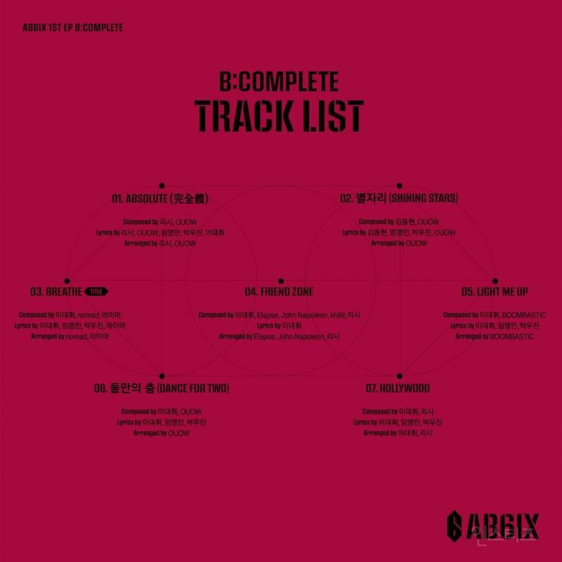 AB6IX 트랙리스트 공개, 데뷔 앨범부터 전곡 자작곡-프로듀싱 | 인스티즈