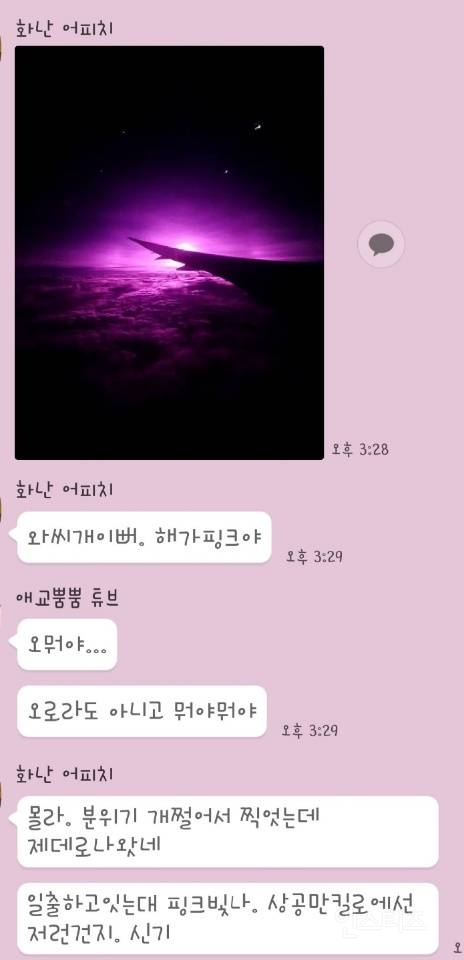너네 핑크밤하늘봤니?🌌 | 인스티즈