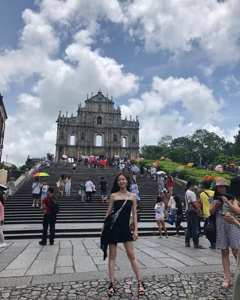 원피스 입고 마카오 여행중인 한선화 인스타 | 인스티즈