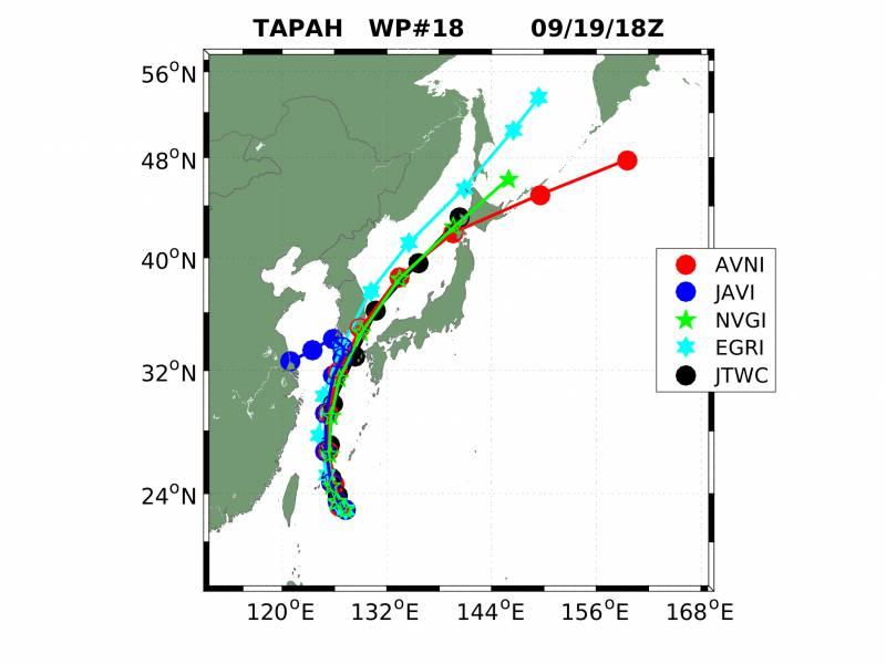 현재 다가오고 있다는 17호 태풍 타파 예상 진로도.jpg | 인스티즈