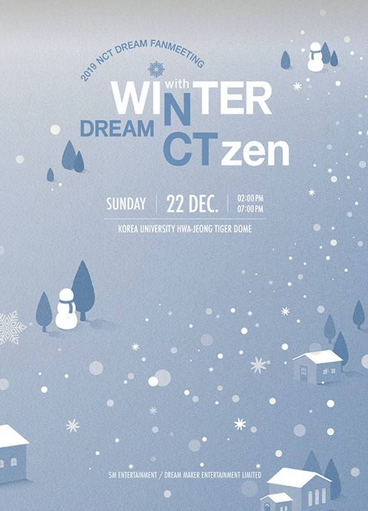 "22일(일), 💚nct Dream💚 2019 FANMEETING ""WINTER DREAM with NCTzen DREAM"" ☃️2회차☃️ 