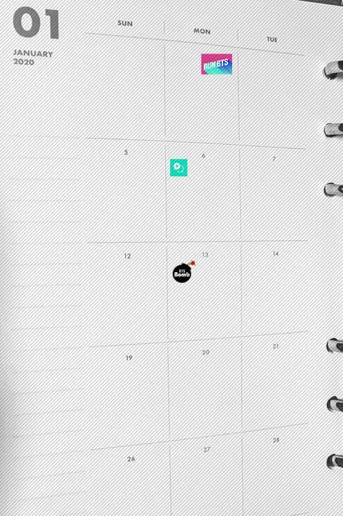 방탄소년단) 다이어리 스티커 공구 수요조사 | 인스티즈