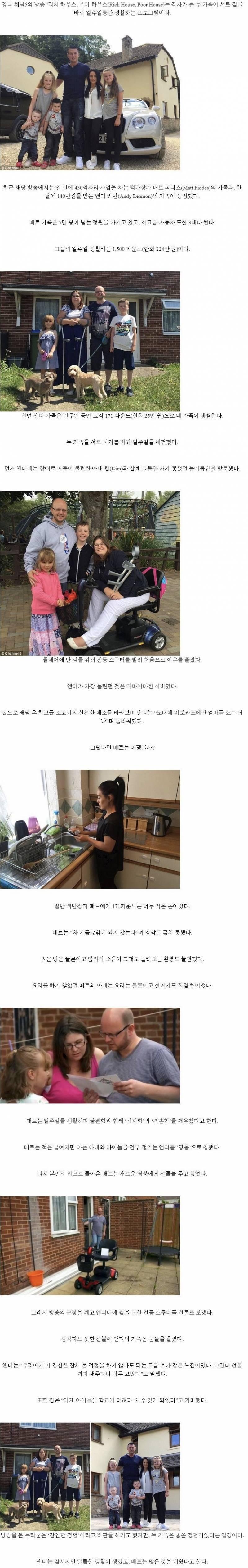 금수저와 흙수저 집 바꿔서 일주일 생활하는 영국 예능.jpg | 인스티즈