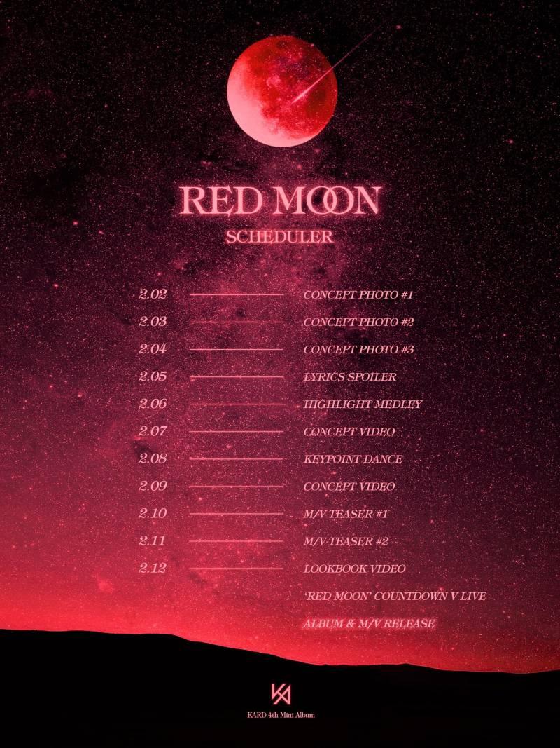 12일(수), KARD Red Moon 음원 발매 | 인스티즈