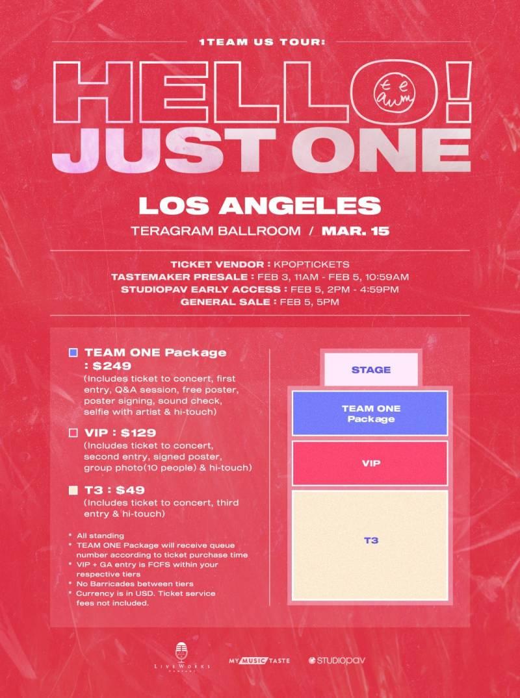 15일(일), 1️⃣ 1TEAM(원팀) US TOUR - Los Angeles | 인스티즈