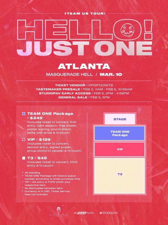 10일(화), 1️⃣ 1TEAM(원팀) US TOUR - Atlanta | 인스티즈