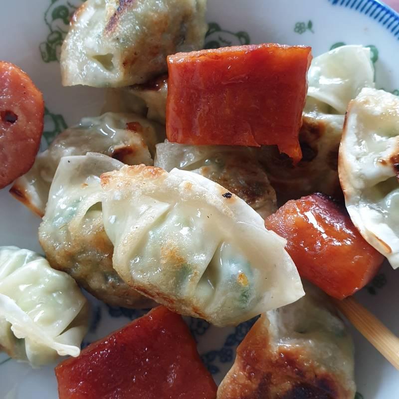 오늘점심은 불닭게티에 만두랑 핫바다 | 인스티즈