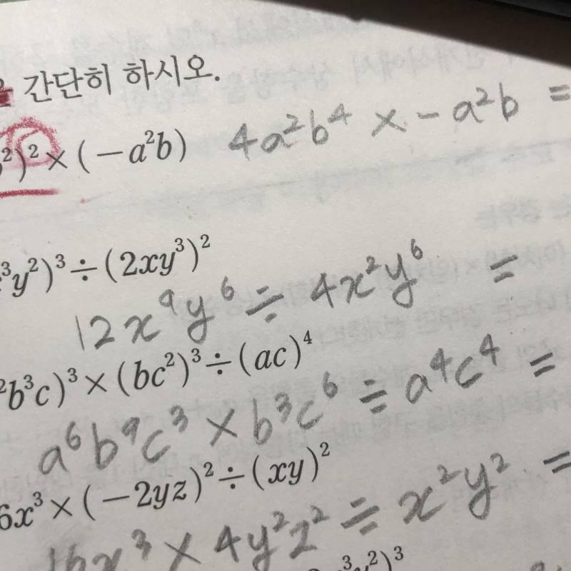 중학교 수학 다항식 지수법칙 아는 사람 ㅠㅠ | 인스티즈