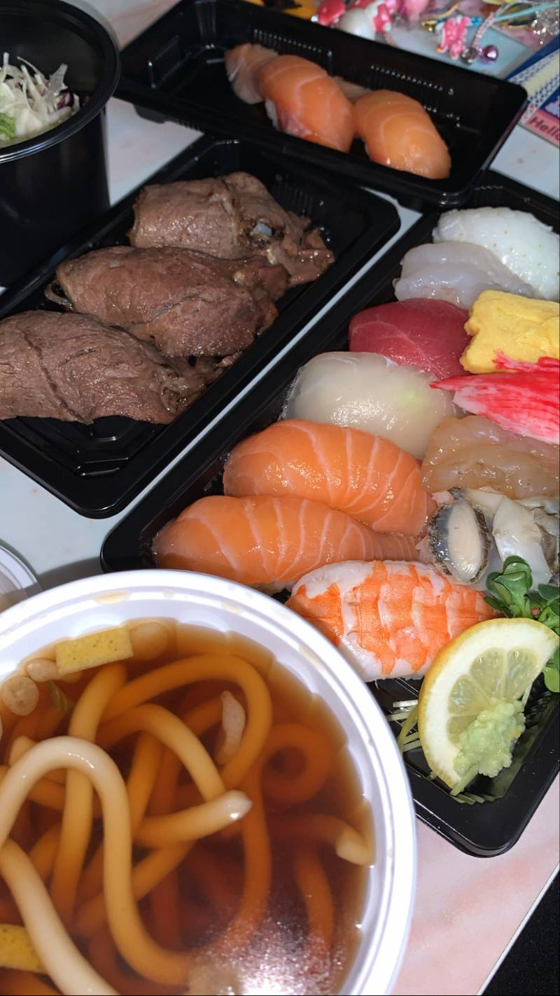 모듬초밥 소고기 연어 미니우동 40   인스티즈