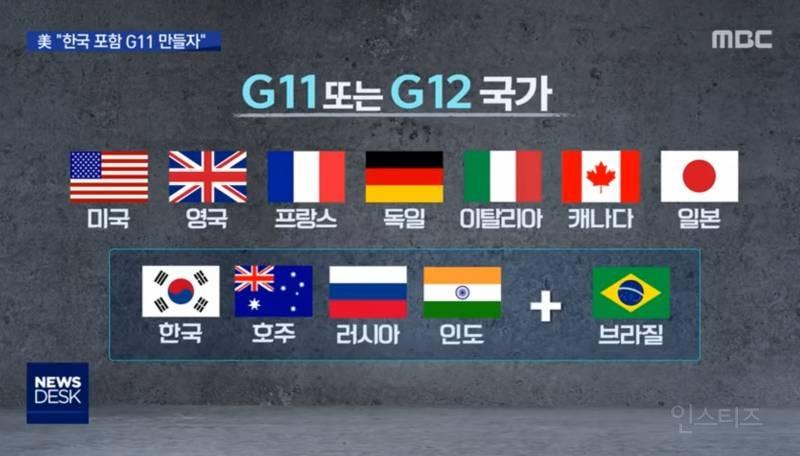 한국 G11합류 소식에 일본만 반대하는 현상황   인스티즈