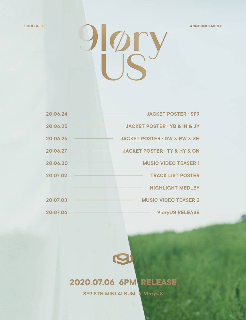 6일(월), 🍃🐍SF9 8TH MINI ALBUM [9loryUS] 컴백🔫🍃   인스티즈