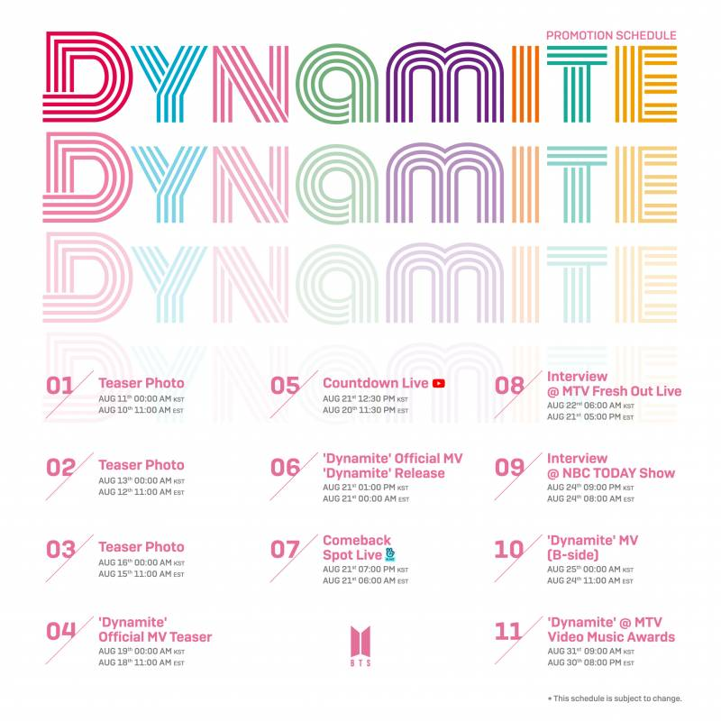 31일(월), 'Dynamite' MTV Video Music Awards | 인스티즈