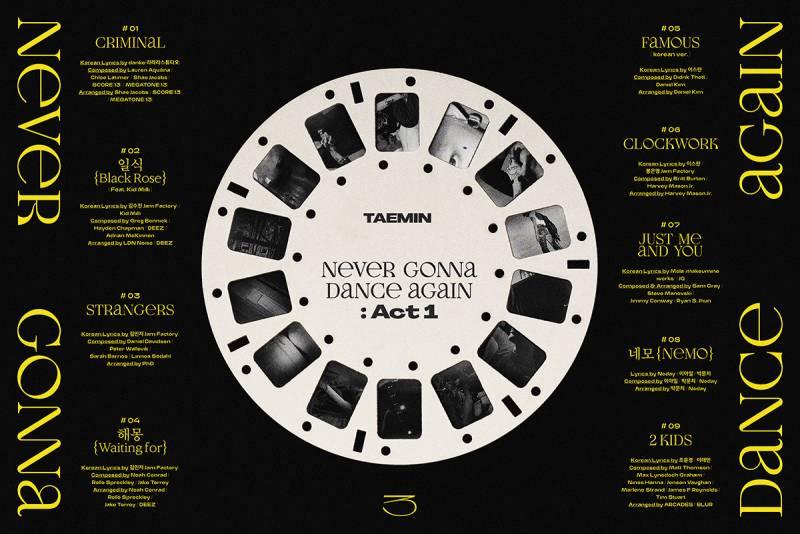 7일(월), 샤이니 태민💎 정규 3집[NeverGonnaDanceAgain:Act1] 발매 6v6❤ | 인스티즈