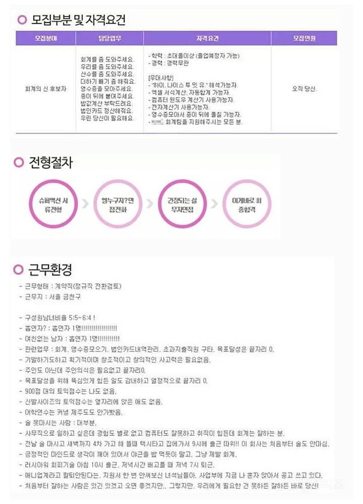 인사팀 뒷목 잡는 채용공고 레전드 TOP 5 | 인스티즈