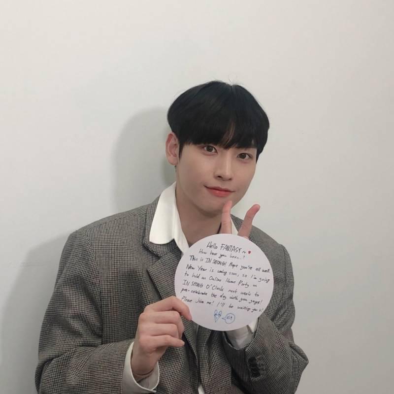 10일(수), SF9🌰인성 [INSEONGO'CLOCK] 접시 위의 초대장?! | 인스티즈