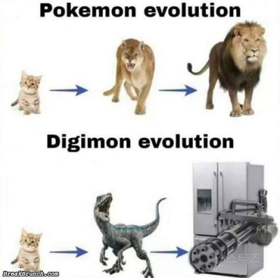 디지몬의 진화와 포켓몬의 진화가 다른 이유   인스티즈