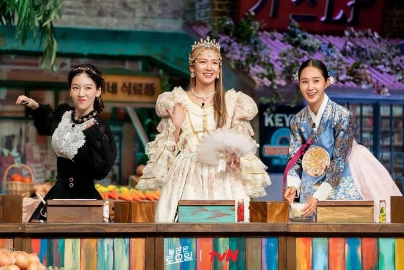 1일(토), 💖소녀시대 태연, 효연, 유리 tvN'놀라운토요일-도레미마켓'💖 | 인스티즈