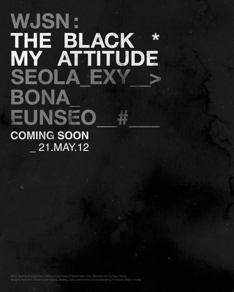 12일(수), 🖤우주소녀 더블랙 FIRST SINGLE ALBUM My Attitude 발매🖤   인스티즈