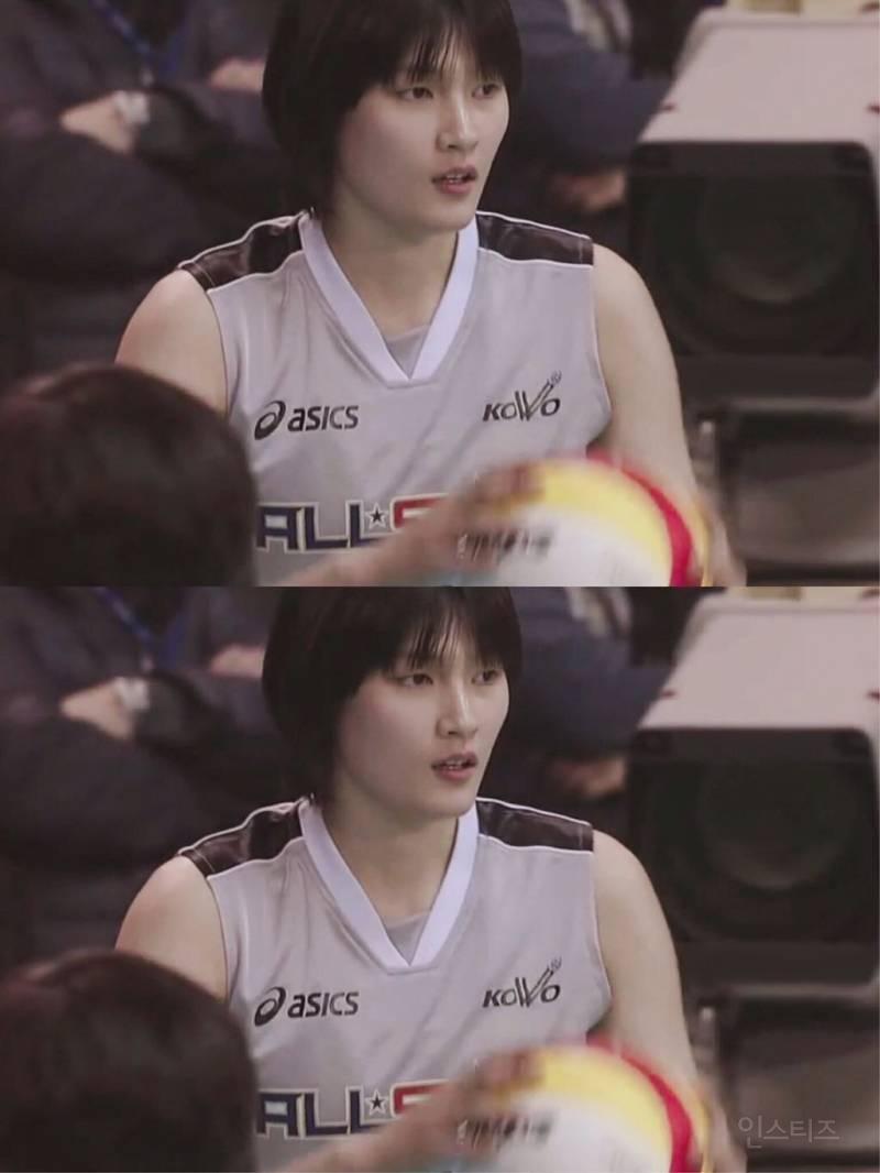 배구 김희진 선수 단발머리 시절   인스티즈