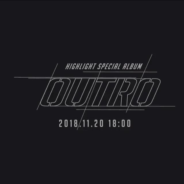 20일(화), 하이라이트 스페셜 앨범 'OUTRO (타이틀곡:사랑했나봐)' 발매   인스티즈