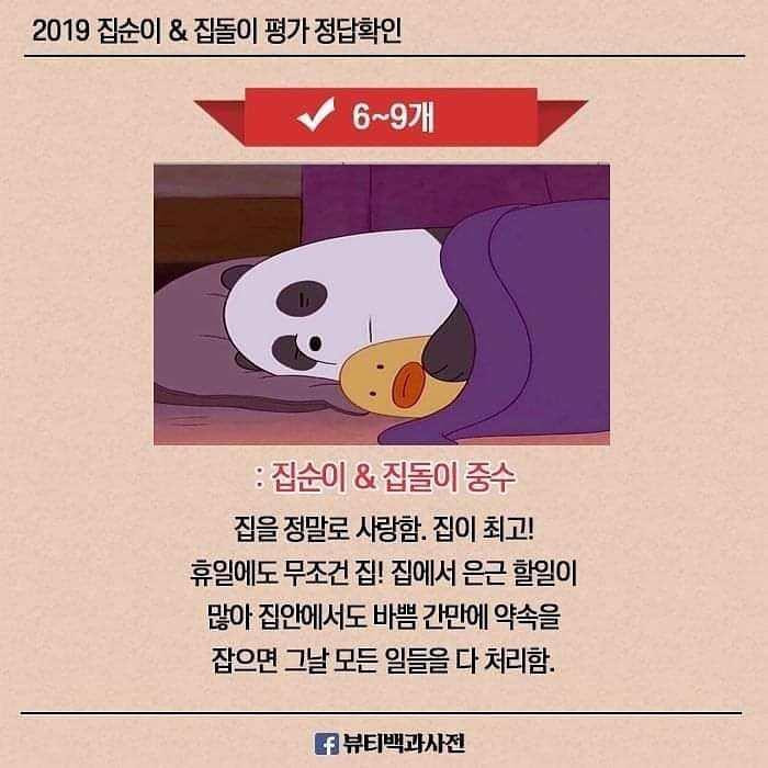 2019 집순이&집돌이 레벨   인스티즈