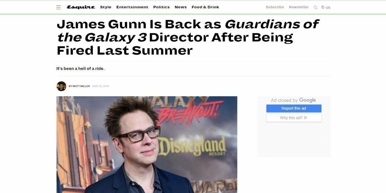 제임스 건 마블 가디언즈 오브 더 갤럭시 감독 복귀 확정 | 인스티즈