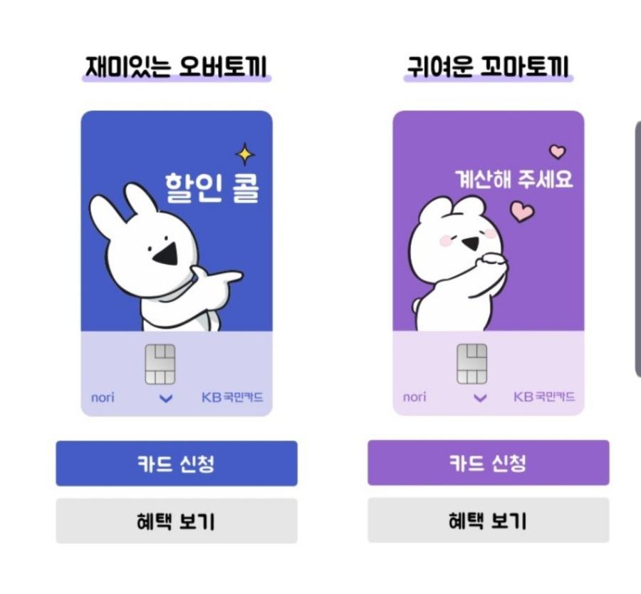국민은행, 신규 체크카드 디자인 | 인스티즈
