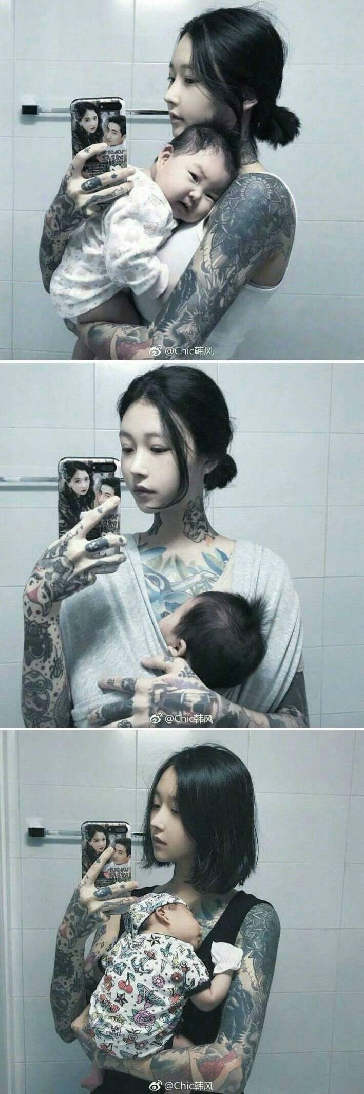 온몸에 타투한 애기엄마 | 인스티즈