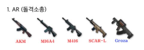 내가 가장 선호하는 배그 총은?? | 인스티즈