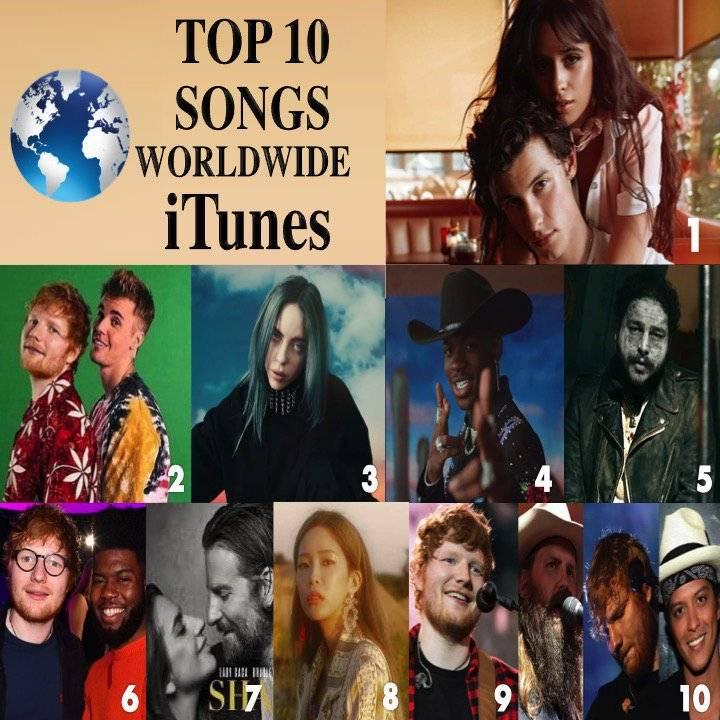 오늘자 전세계 아이튠즈 TOP 10 (feat.Heize&giriboy&suga) | 인스티즈