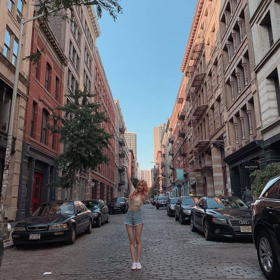 뉴욕에서 미모 폭발하는 아이즈원 장강김 | 인스티즈