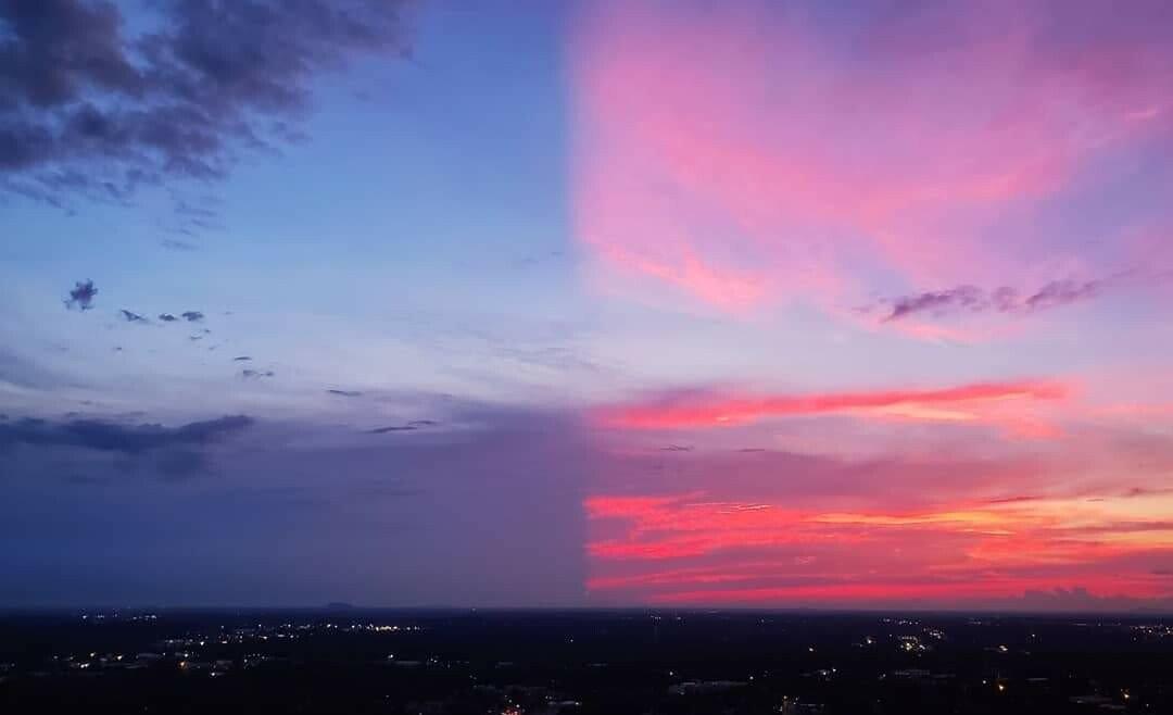 미국에서 촬영된 쪼개진 하늘.jpg | 인스티즈