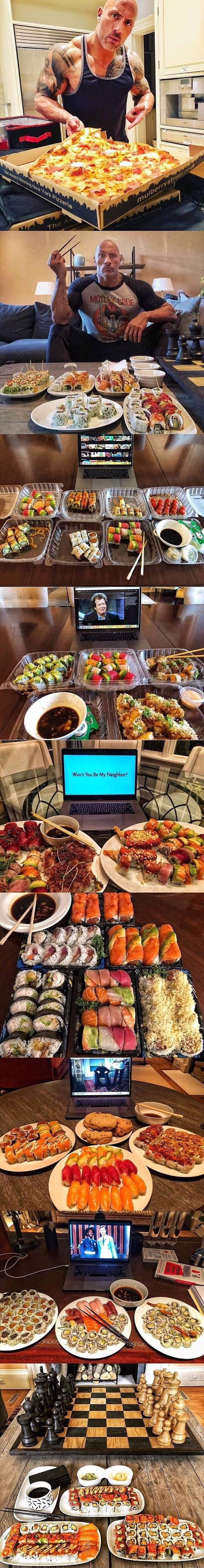 드웨인 존슨(더락) 한끼 식사 모음.jpg | 인스티즈