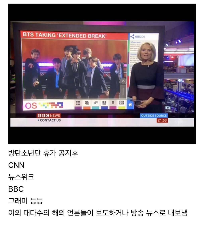 방탄소년단 휴가를 CNN,BBC에서 다룬 이유 | 인스티즈