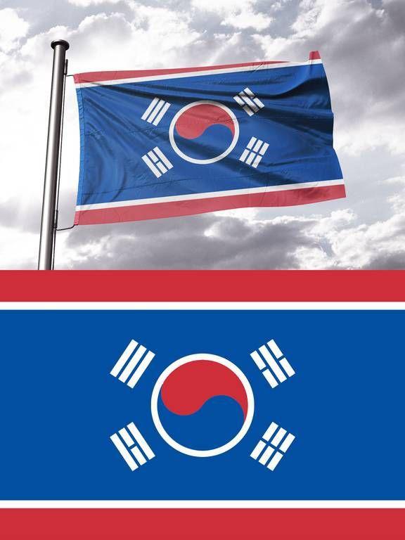 서양인들이 만든 통일 한반도 국기...jpg | 인스티즈