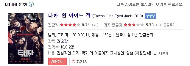 오늘 개봉한 한국영화 평점.. | 인스티즈