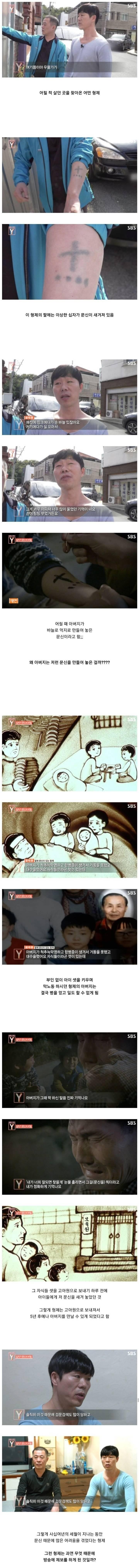 스압) 어린 자식들 팔에 억지로 문신을 새긴 아버지.jpg | 인스티즈