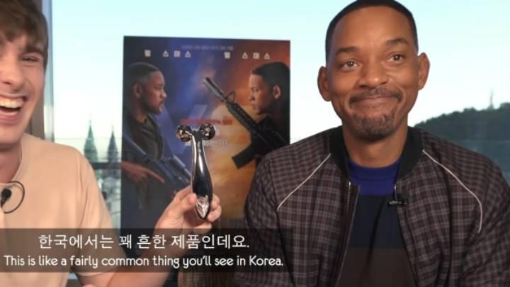한국의 뷰티케어 제품을 처음 본 윌 스미스   인스티즈