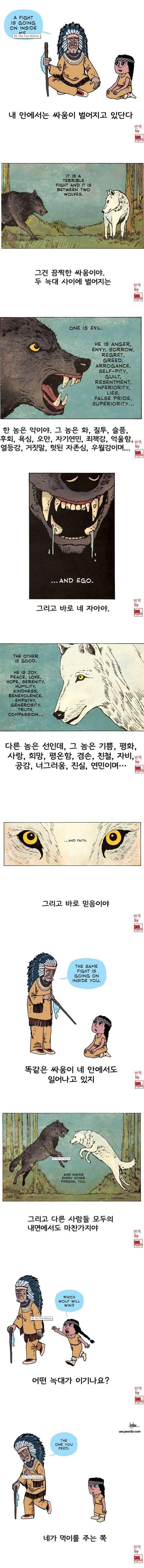 체로키 인디언의 늑대 이야기 | 인스티즈