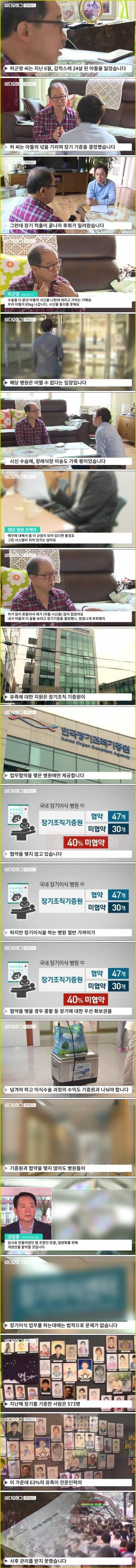 한국 장기기증 실태   인스티즈