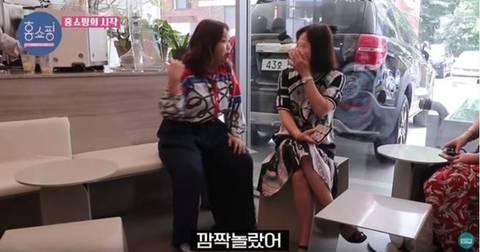 홍현희가 커피숍에서 잘생긴 직원을 봤을때 반응.JPG   인스티즈