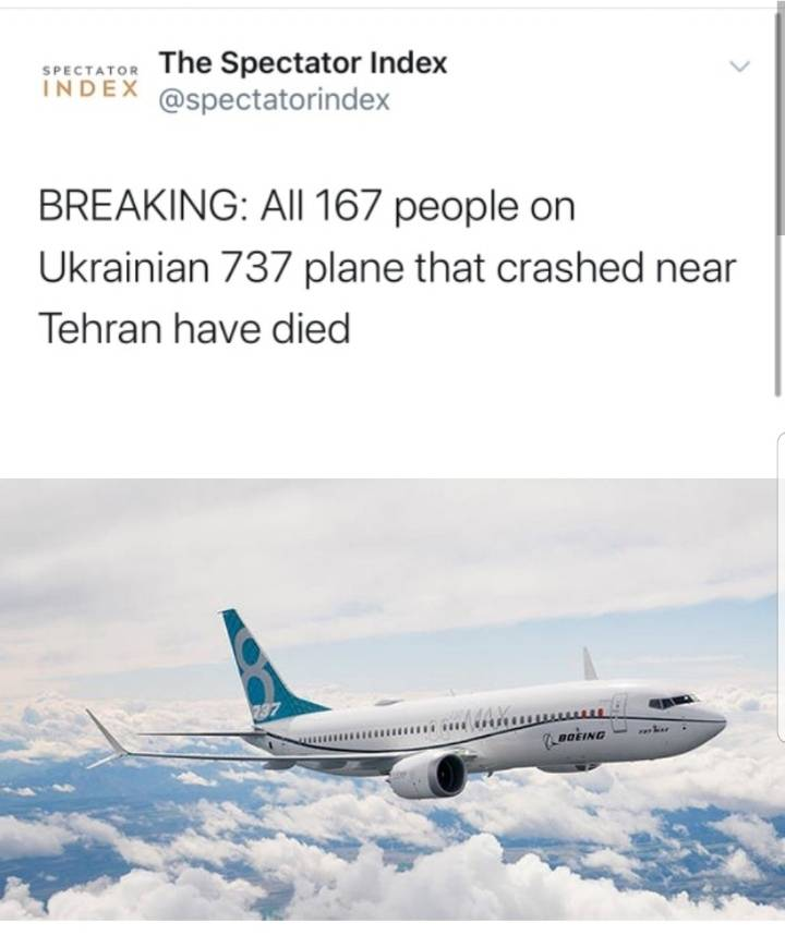 이란서 우크라이나 여객기 추락 전 모습 | 인스티즈
