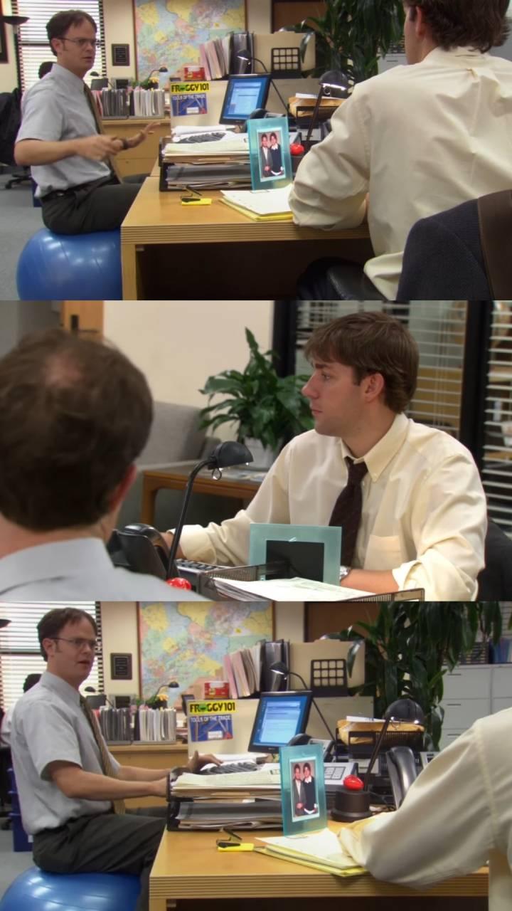 [더오피스] 회사 옆자리 동료가 회사 의자를 짐볼로 바꿨을 때   인스티즈