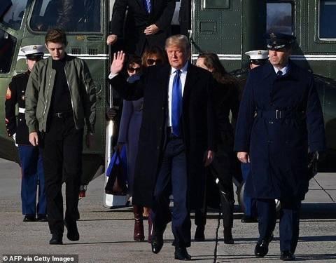 키 200cm 넘긴 트럼프 막내아들.jpg | 인스티즈
