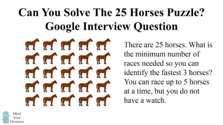 구글 인터뷰 문제가장 빠른 말 3마리 찾기 | 인스티즈