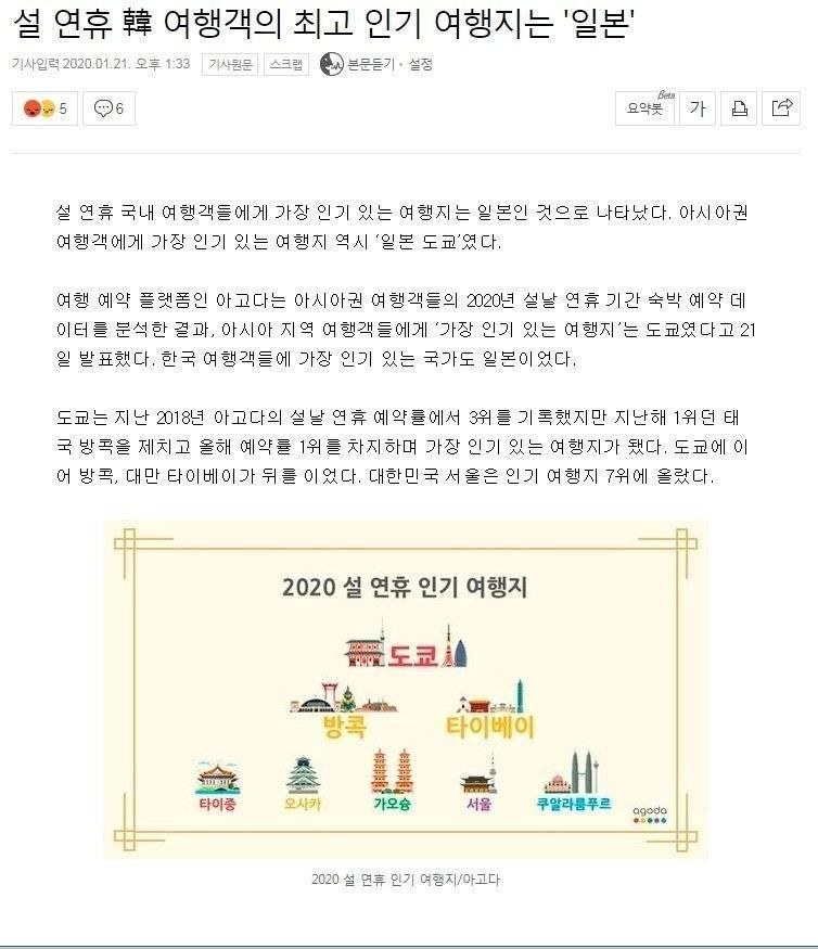 설 연휴 韓 여행객 최고 인기국 일본 | 인스티즈