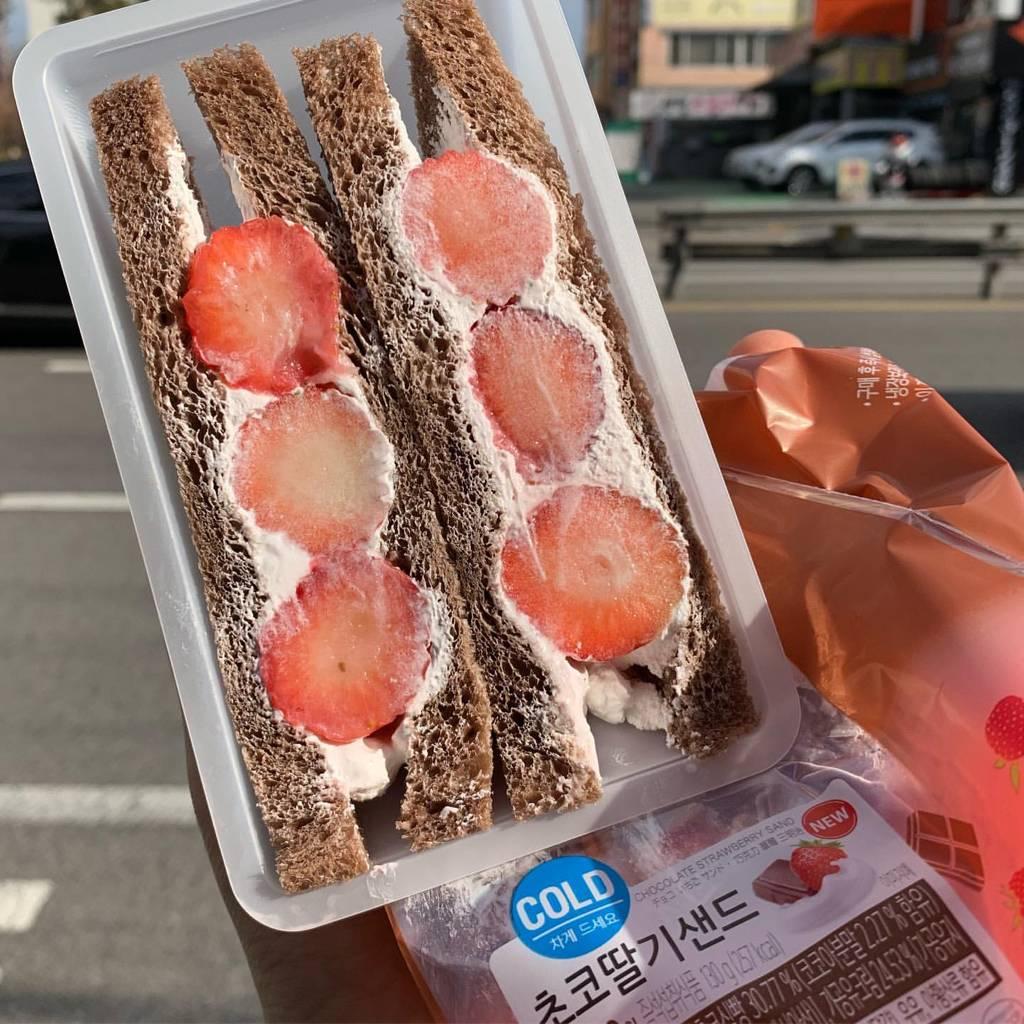편의점 딸기 샌드위치 신상.jpg | 인스티즈