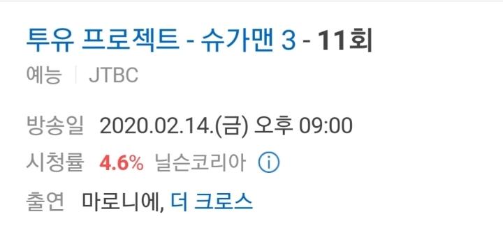 시즌 최고시청률 달성한 슈가맨3 | 인스티즈